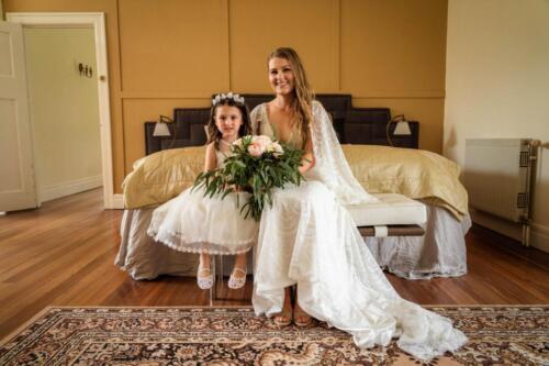 Heather and flower girl (1)