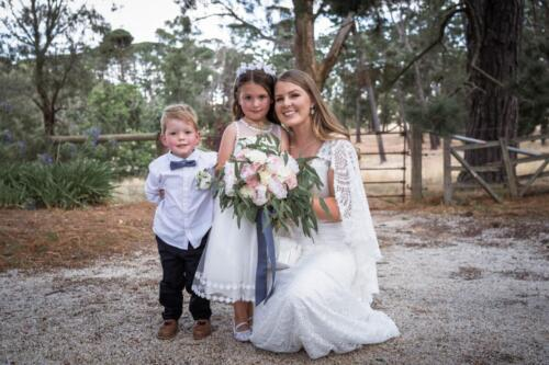 Heather page boy and flower girl